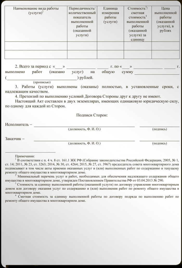 акт н 1 2014 образец