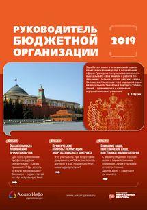 Руководитель бюджетной организации №3 2019