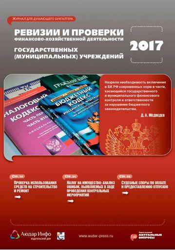 Ревизии и проверки финансово-хозяйственной деятельности государственных (муниципальных) учреждений №6 2017